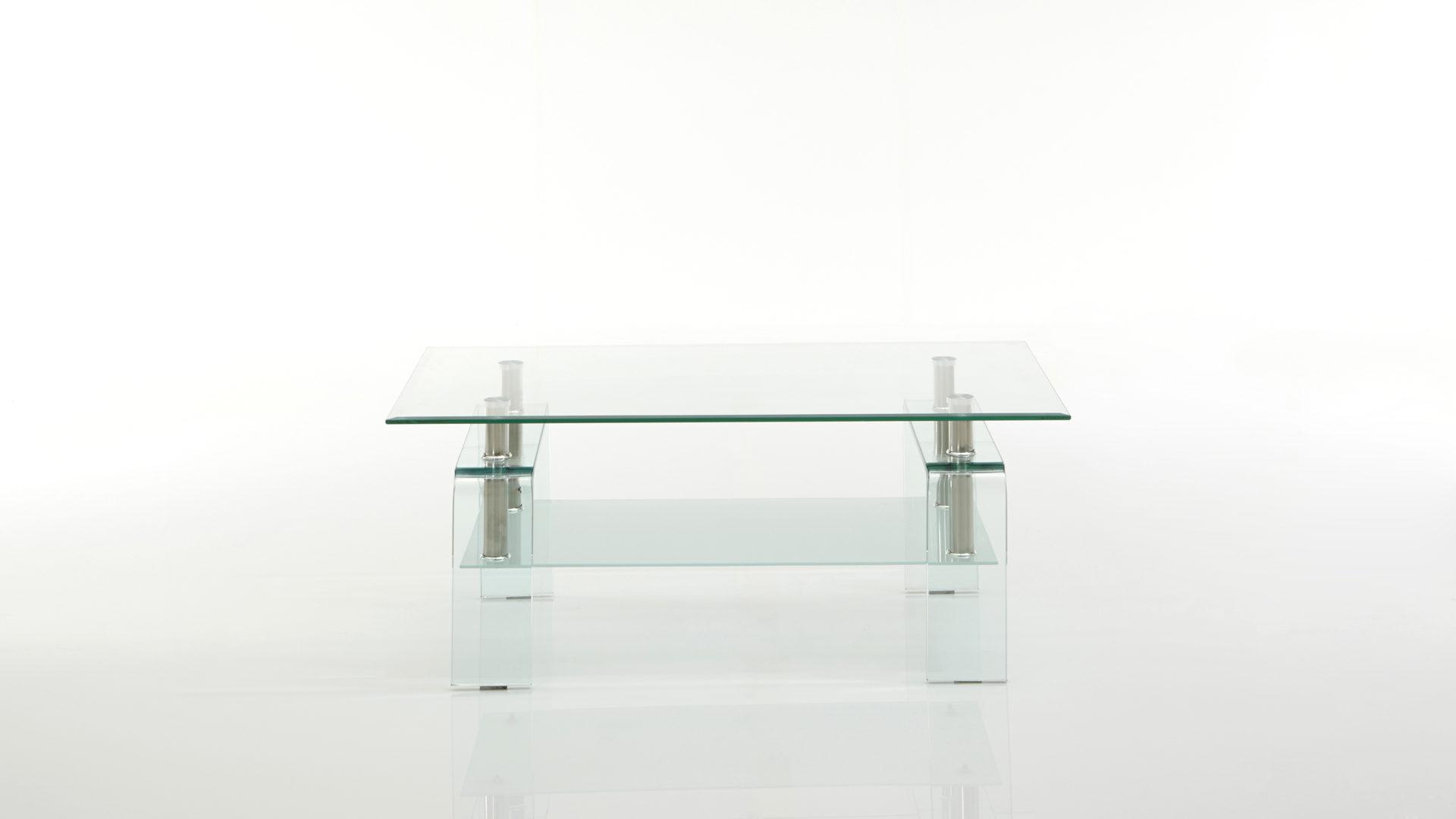 Couchtisch Concept Aus Glas In Transparent Als Praktischer Beistelltisch Klarglas Ca