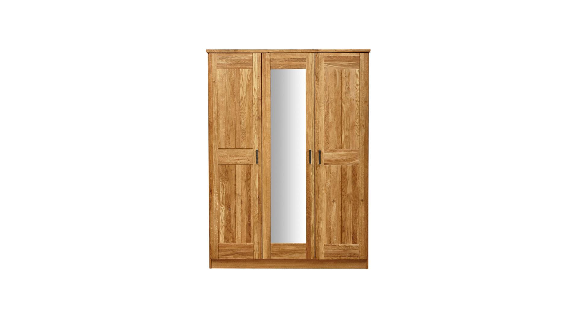 Kleiderschrank als Massivholzmöbel , geölte Wildeiche – drei Türen ...