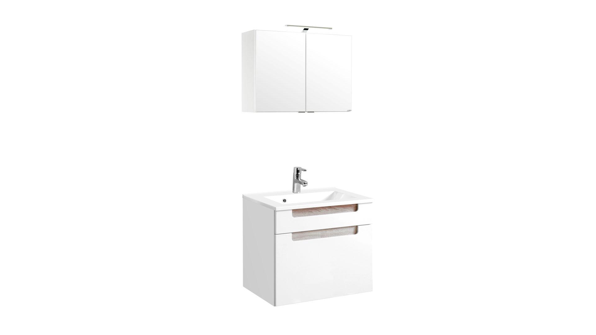 weisse badmobel, waschtisch-set siena als attraktives badmöbel , weiße hochglanz, Design ideen
