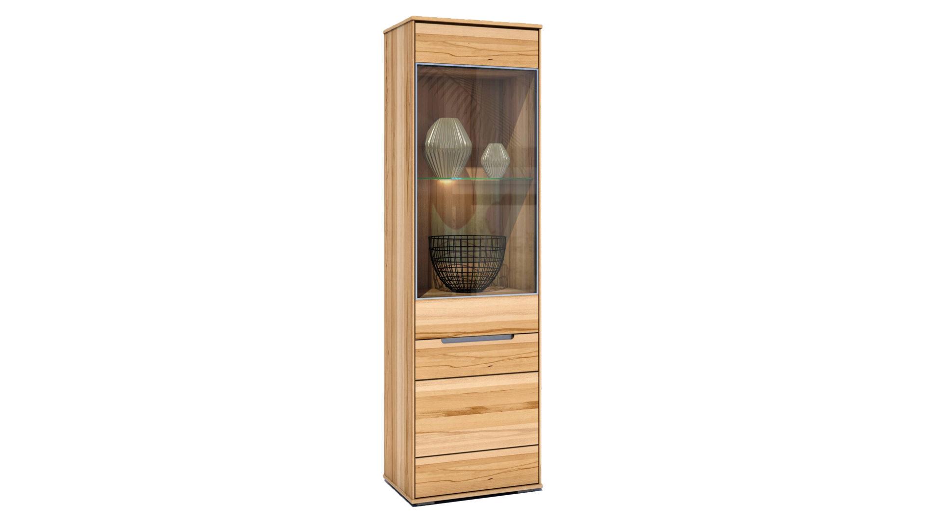Massivholzmöbel bzw. Vitrine, Kernbuche – zwei Türen, Höhe ca. 203 ...