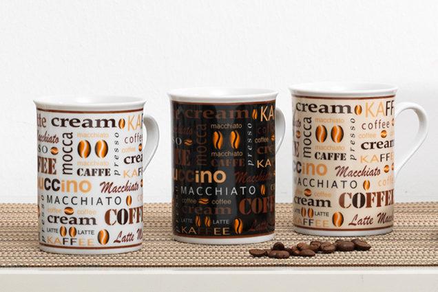 Kaffeebecher Havanna Porzellan Zweiteilig Ca 300 Ml