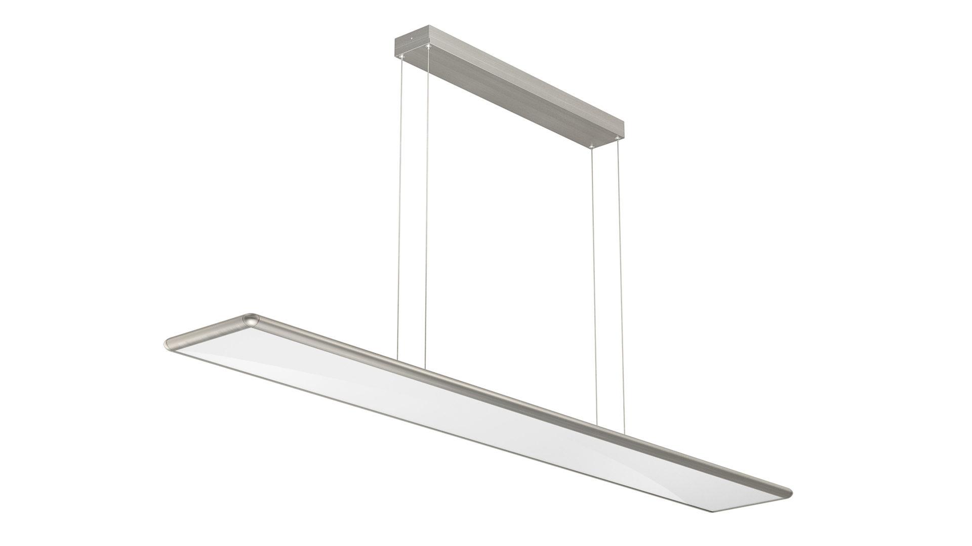 Pendelleuchte Evotec Aus Glas Metall In Metallfarben EVOTEC  LED Pendelleuchte Aluminium U0026 Nickel Gebürstet,