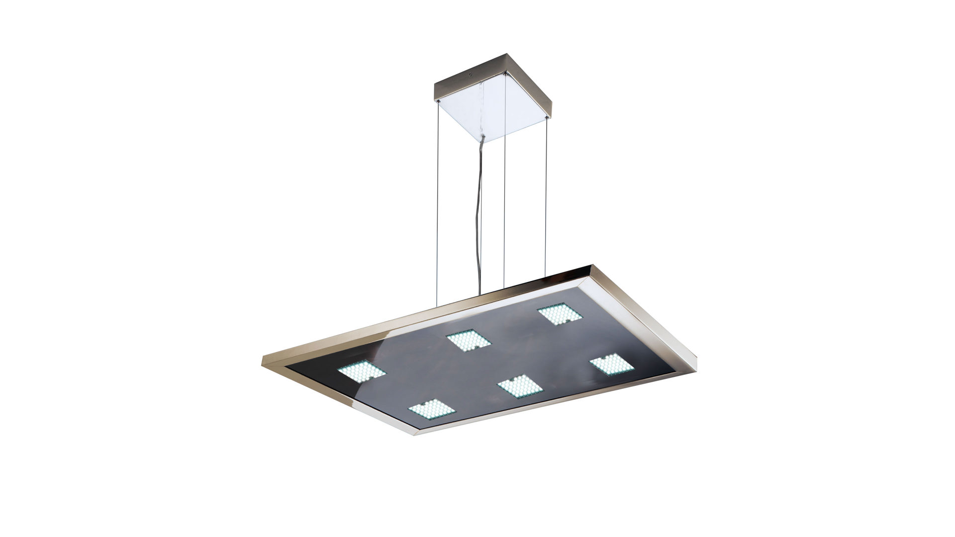 Pendelleuchte Evotec Aus Glas Metall In Schwarz EVOTEC LED Pendelleuchte  Aluminium U0026 Nickel Gebürstet,