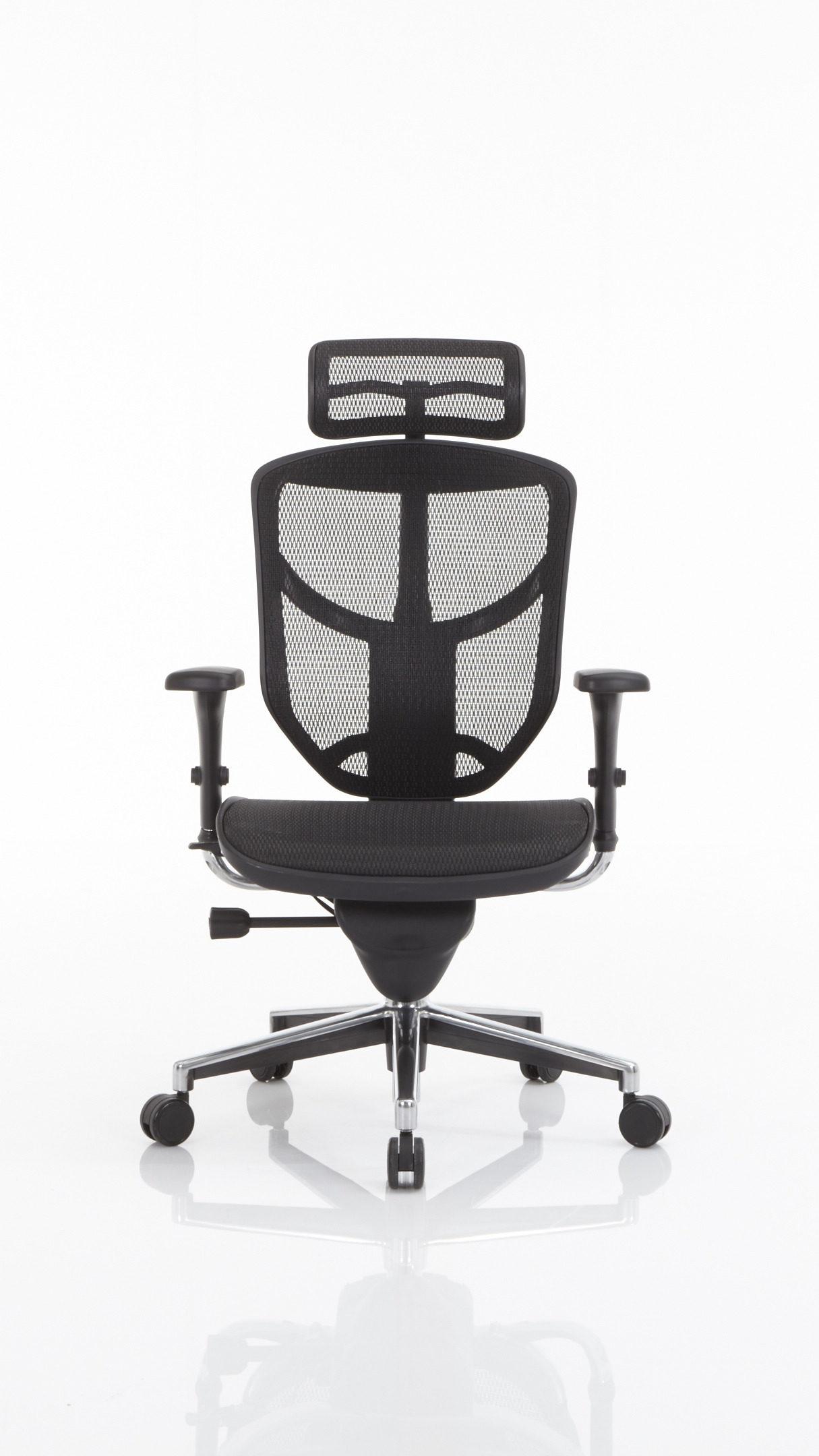 Drehstuhl als Büromöbel mit ergonomischem Komfort, schwarzer ...