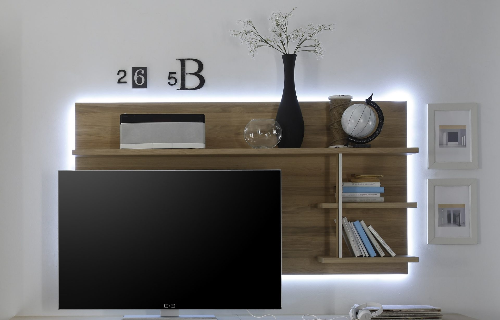 MCA Espero TV-Wandpaneel R - ESP11T52, Ast-Eiche Bianco massiv ...
