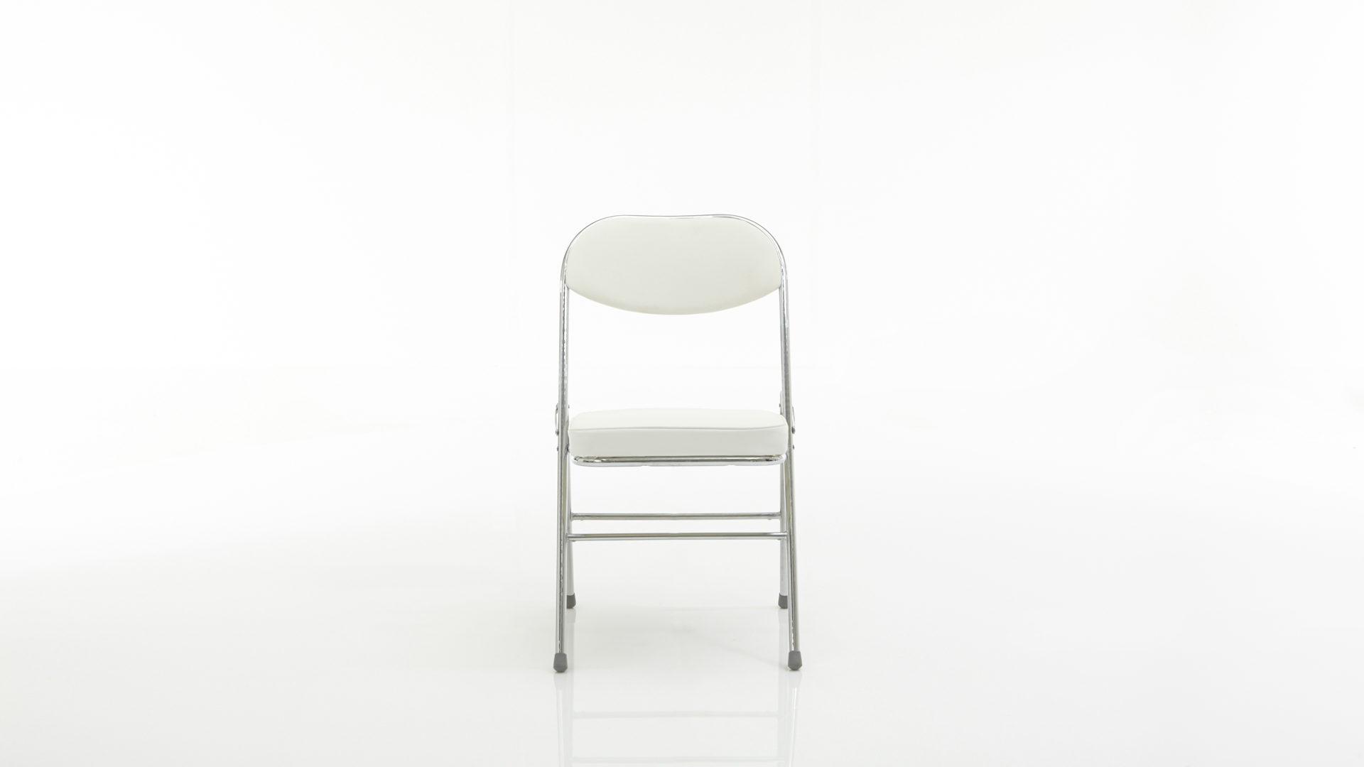 Klappstuhl Finori Aus Kunstleder In Weiß Klappstuhl Bzw. Polsterstuhl Als  Zeitloses Sitzmöbel Weißes Kunstleder U0026