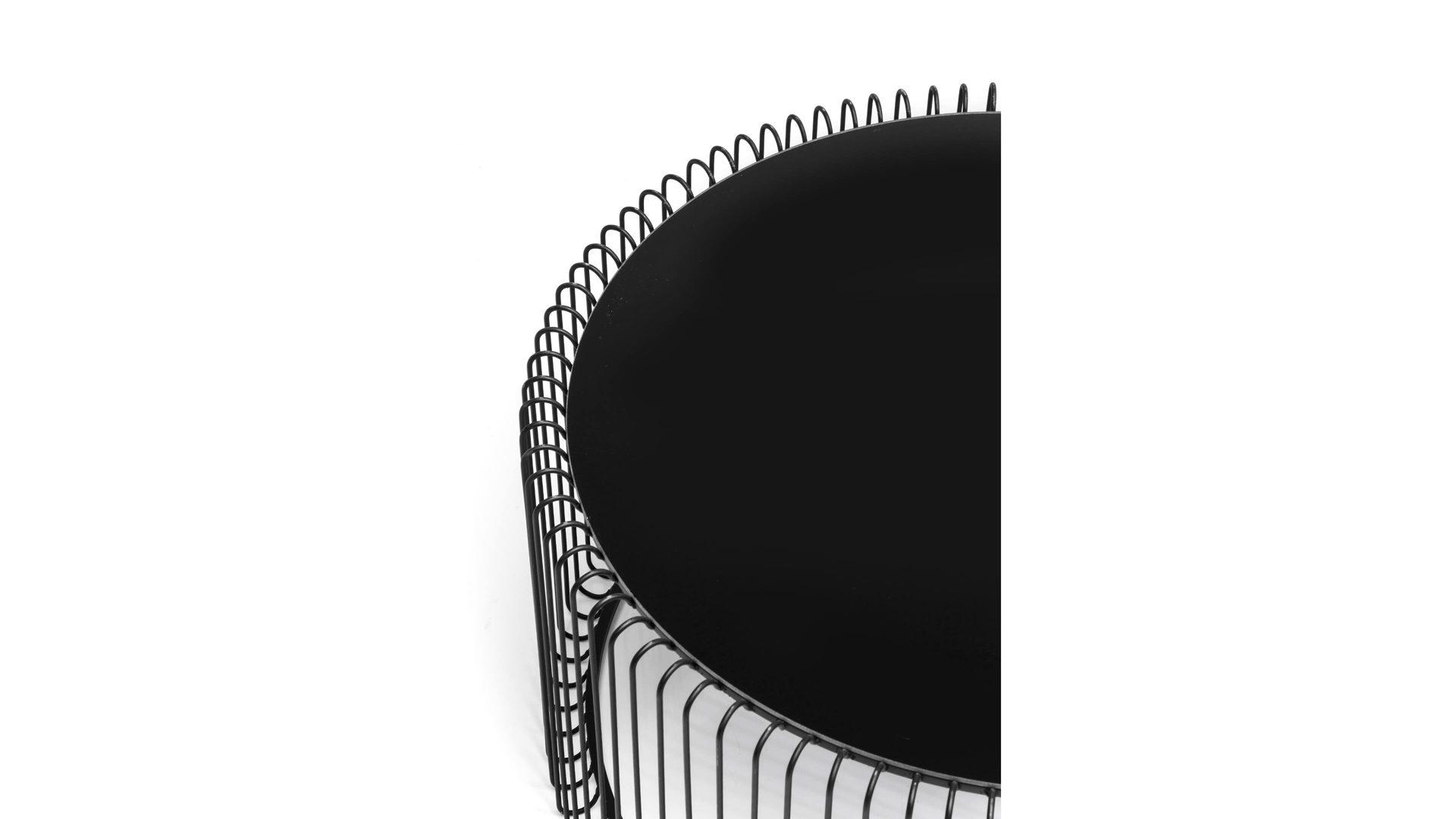 KARE DESIGN Couchtisch-Set Wire, schwarzer Stahldraht & Glas ...
