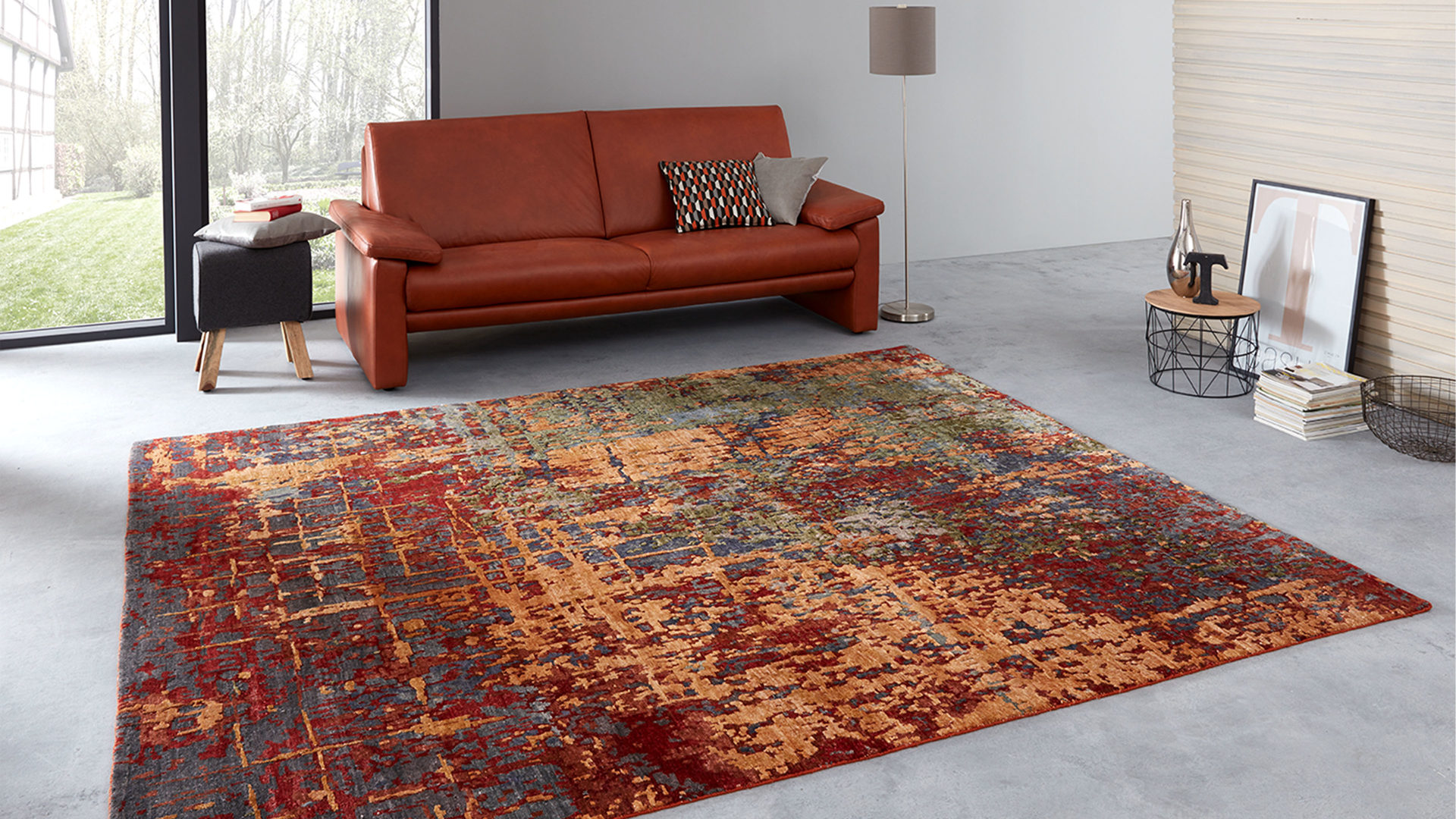 Designerteppich Interliving aus Textil in Orange Interliving Teppich Serie T-8340 Rostfarben gemustert – ca. 250 x 300 cm