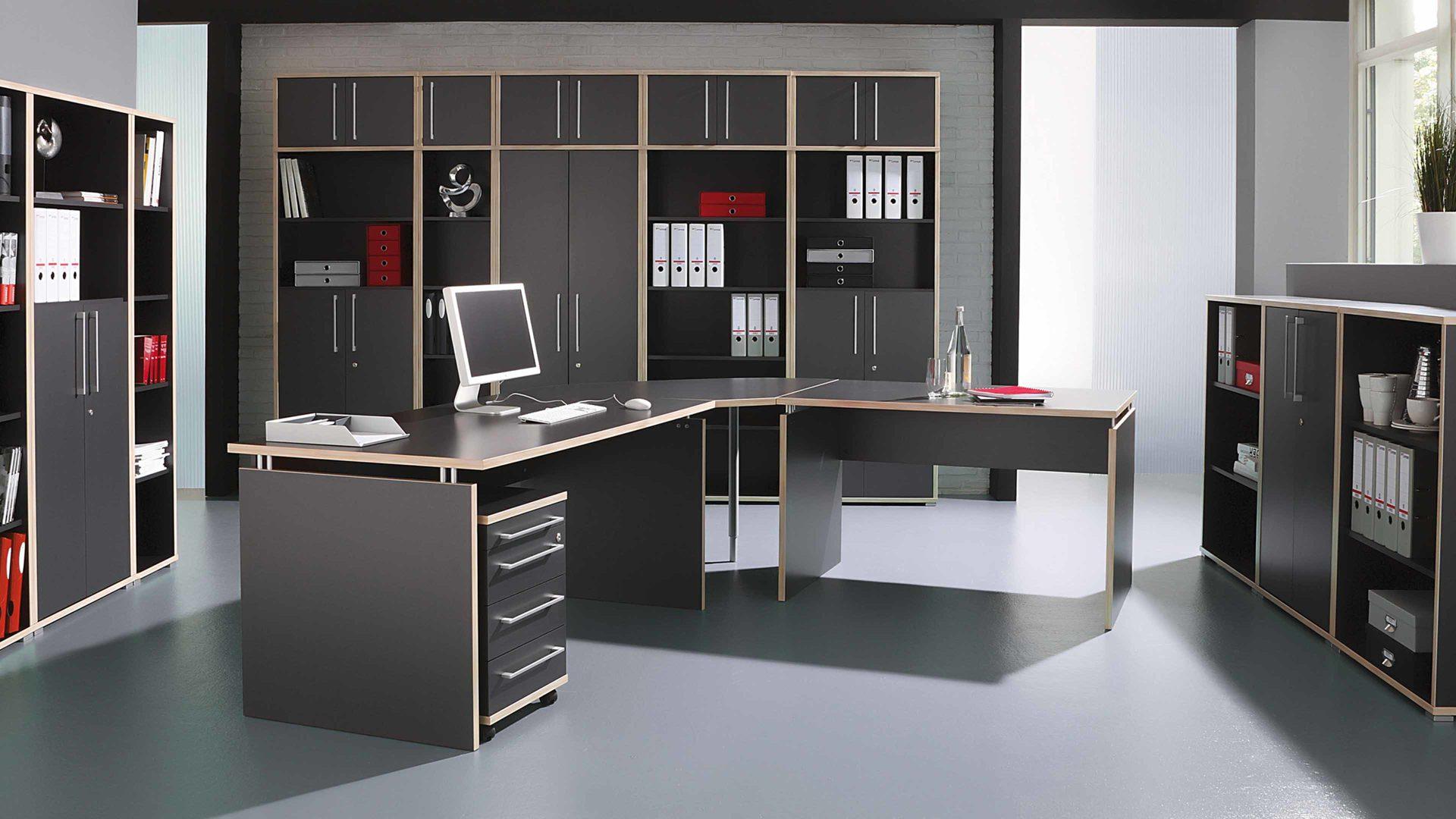 Aktenschrank Dante als Büromöbel fürs Home-Office, anthrazit ...