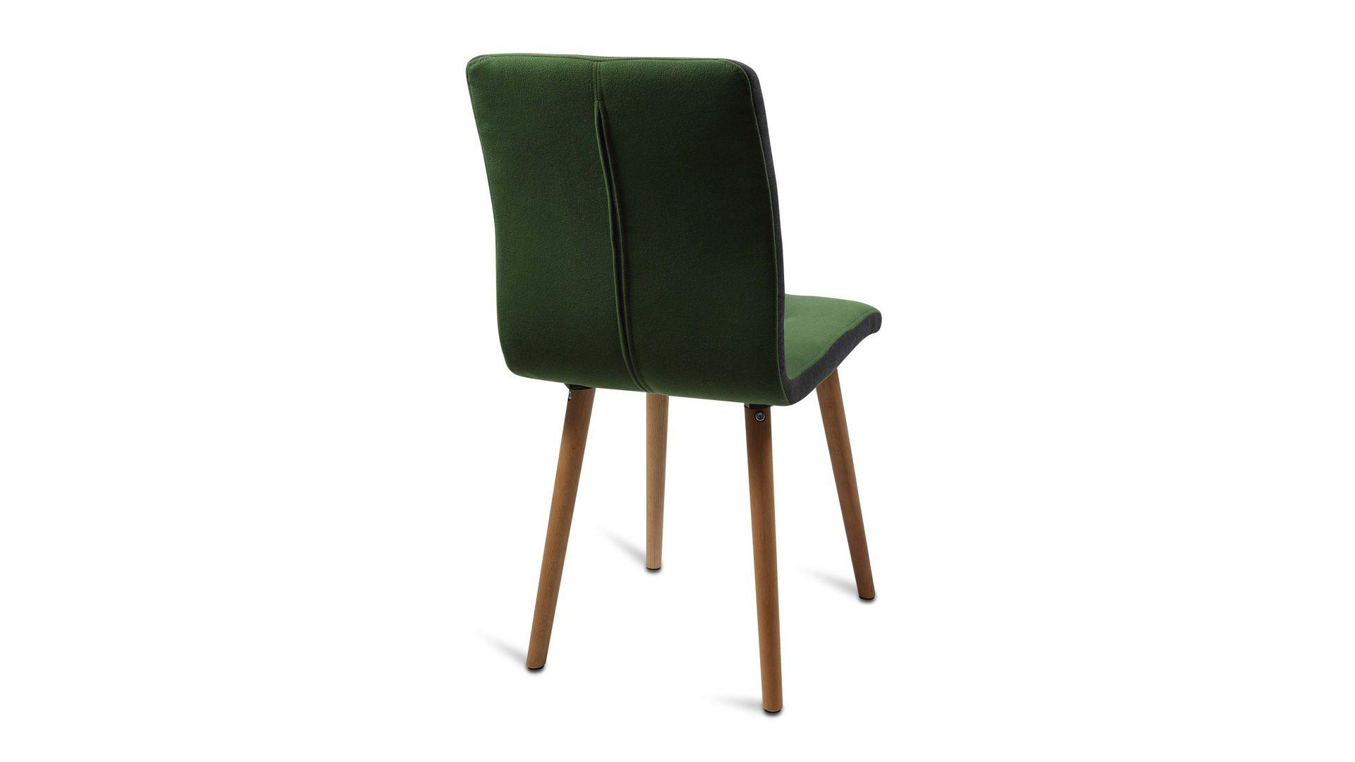 Polsterstuhl Ein Sitzmöbel Im Retro Stil Flaschengrüner Bezug
