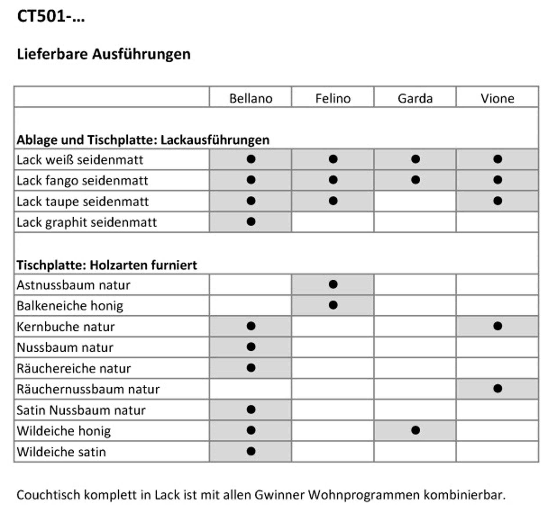 Gwinner Couchtisch Ct501 85 Couchtisch Ct501 85 Pg1 Lahr Freiburg