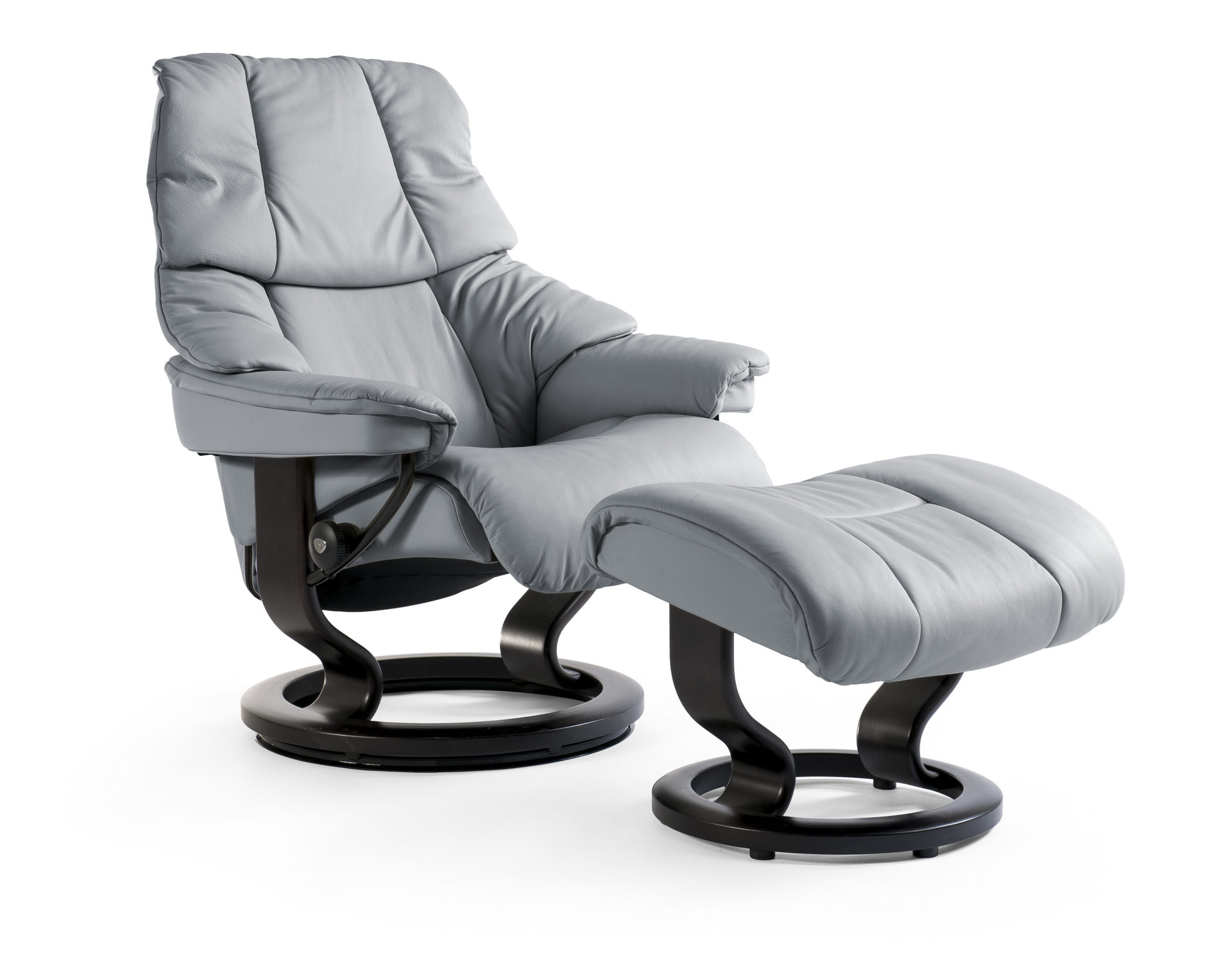 Sessel Set Ekornes Stressless Reno Relaxsessel Mit Hocker Noblesse Grey  Wenge Small Reno Classic S Pictures Gallery